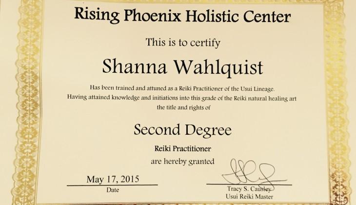 Reiki Practitioner Certificate